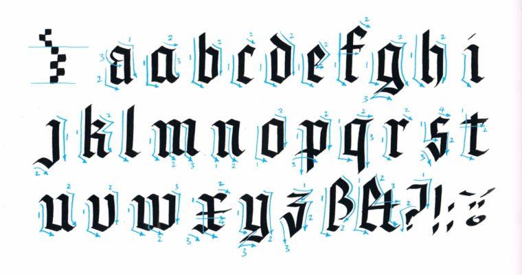 Инструкция по написанию красивого готического шрифта