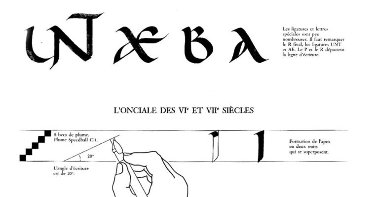 Схема построения двух вариантов унициала – латиница