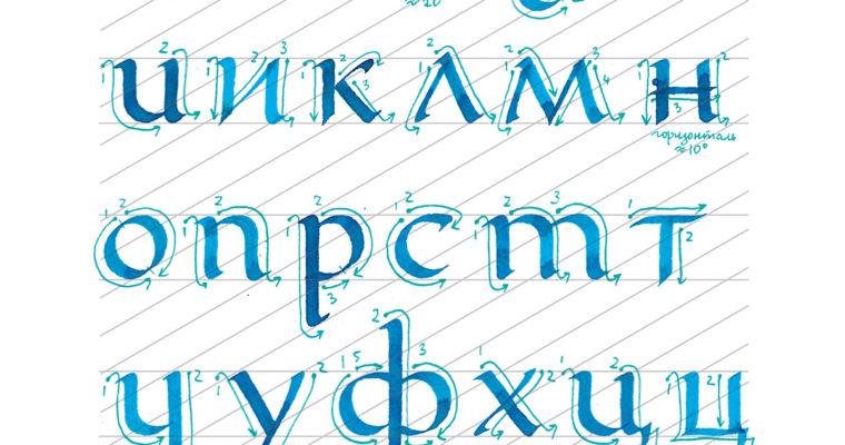Cхема построения букв основного шрифта