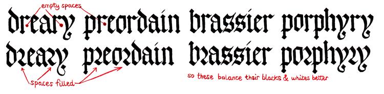 Готический шрифт. Пошаговые уроки – часть 2. m, w, r, t, h, b, f, k, o, q, p, v