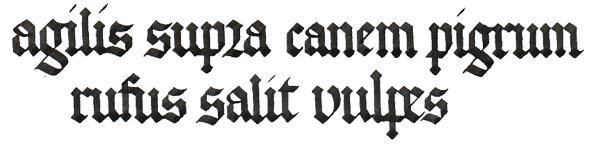 Готический шрифт. Пошаговые уроки — Часть 1. i, l, n, u, c, e