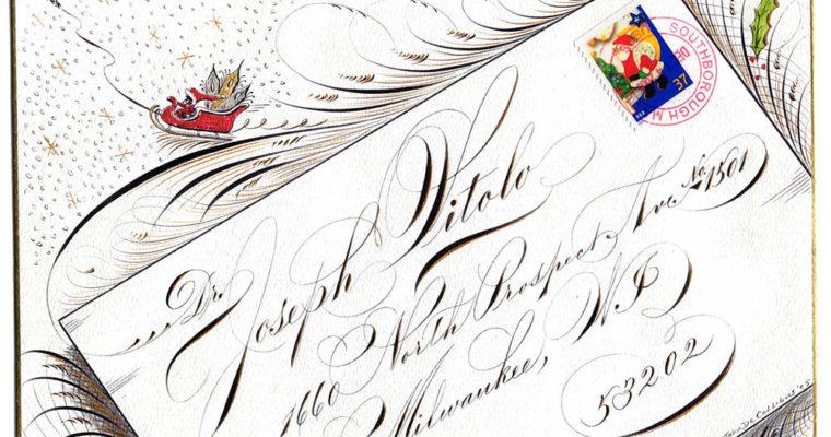 Старинные письма, поздравительные открытки и сертификаты, оформленные тонким пером
